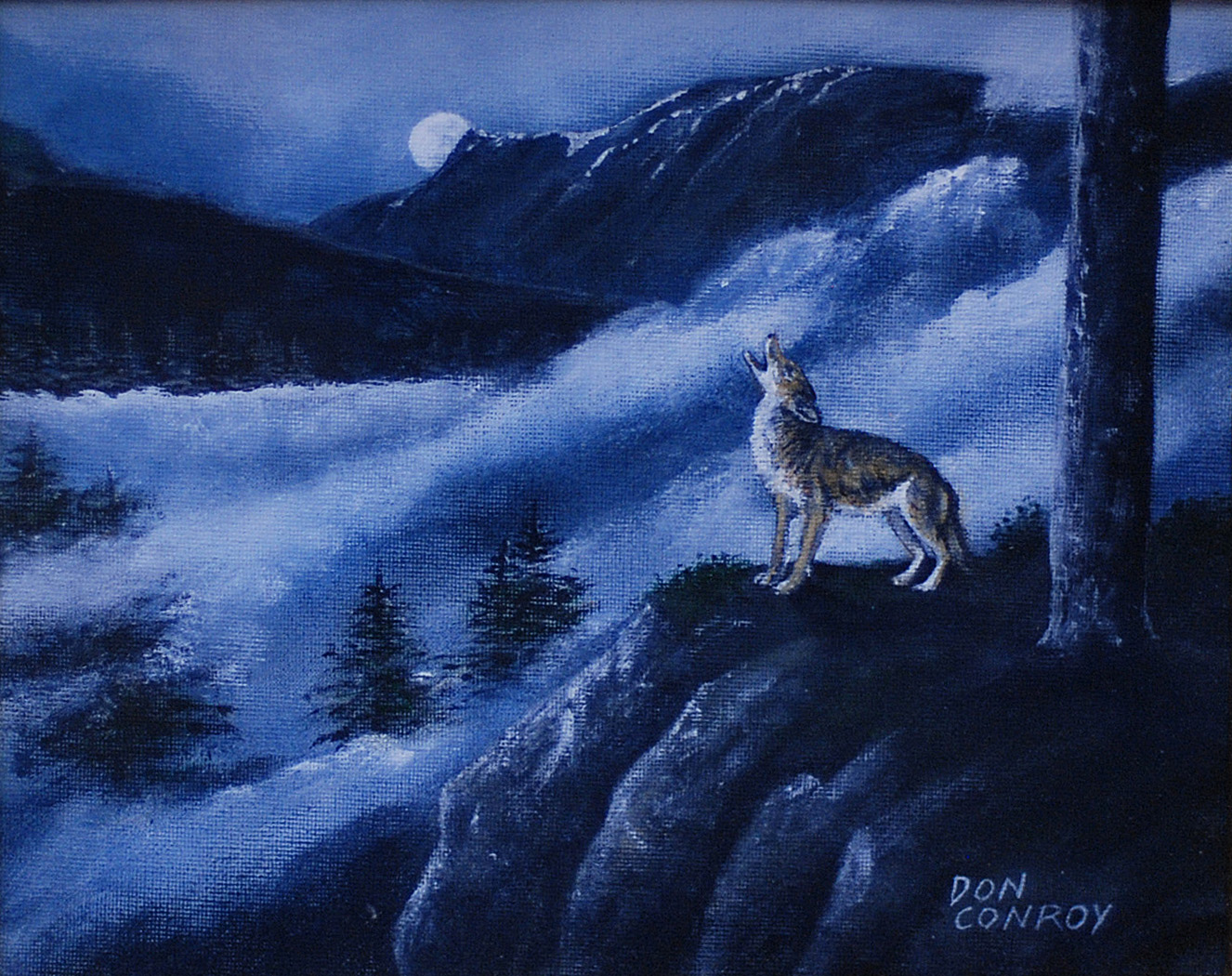 coyote howling at the moon oil – Don Conroy  coyote howling ...